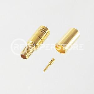 SMB Plug Connector Crimp Attachment Coax RG55A, RG58A, RG58C, Gold Plating