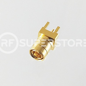 SMB Plug Connector Solder Attachment PCB Through Hole, Gold Plating