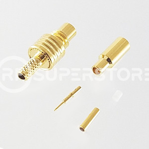 SMC Jack Connector Crimp Attachment Coax RG178, RG196, 0.8D-2V, Gold Plating