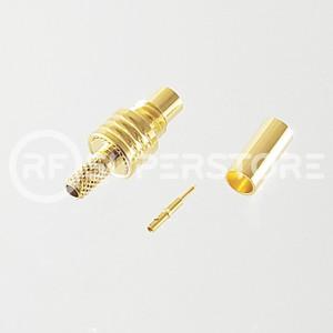 SMC Jack Connector Crimp Attachment Coax RG174, RG188, RG316, Gold Plating