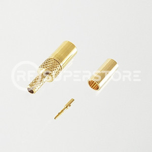 SSMB Plug Connector Crimp Attachment Coax RG174, RG188, RG316, Gold Plating