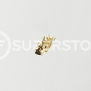 u.FL Male Right Angle Connector Crimp Attachment Coax 1.13mm, Gold Plating