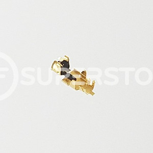 u.FL Male Right Angle Connector Crimp Attachment Coax 1.32mm, 1.37mm, RG178, Gold Plating