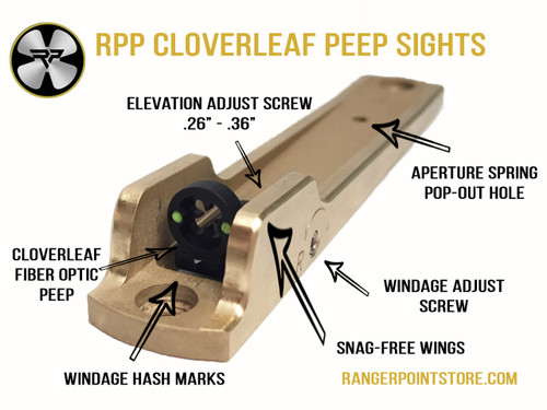 Henry Cloverleaf Peep Sights, Peep Sights, Brass peep sights, black peep sights, Henry big boy peep sights, Henry Golden Boy Peep Sights, Henry X peep sights, Henry 30-30 peep sights, Henry 45-70 peep sights, Henry 357 mag peep sights, Henry 44 mag peep sights, Henry 45 long colt peep sights, ranger point precision peep sights