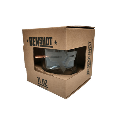 BenShot 11oz Whiskey Glass | Lehigh Defense .308 Solid Copper Bullet