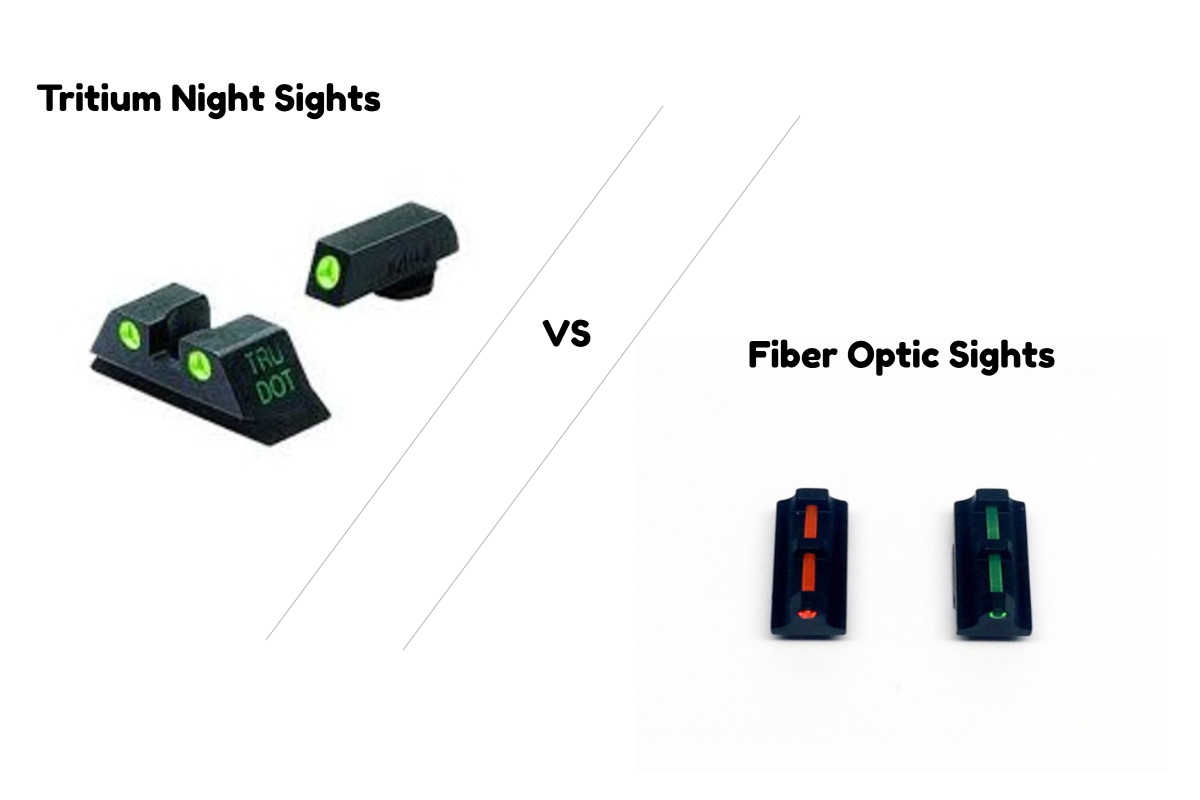 Comparison Guide: Tritium Night Sights vs. Fiber Optic Sights