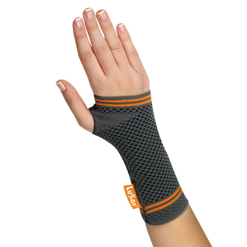 Pull on Wrist Brace.  Provides support and compression for wrist injuries.  Available in 5 Sizes