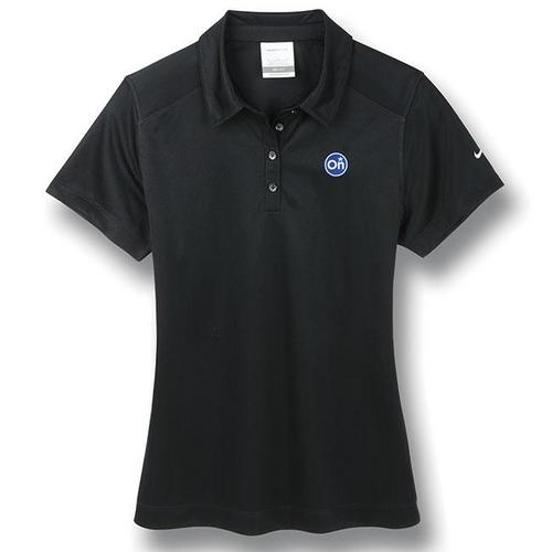 Ladies Black Nike®* Golf Polo