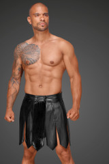 Eco Leather Gladiator Kilt With PVC Pleats
