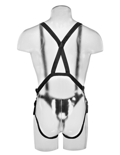 "King Cock 12"" Hollow Strap-On Suspender System - Flesh"