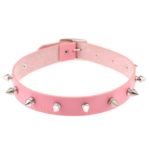 Aiko Spike Choker - Baby Pink