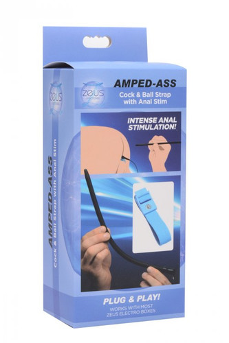 Amped-Ass - Cock and Ball Strap with Anal e-stim