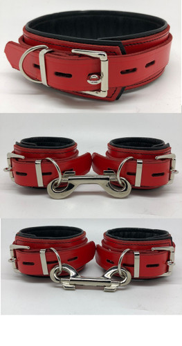 Deluxe Lockable Restraints - Red & Black