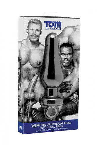 Tom of Finland Weighted Aluminum Plug with Pull Ring