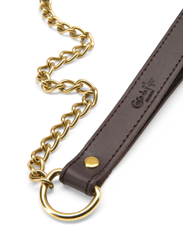 Coco de Mer Leather Lead Brown