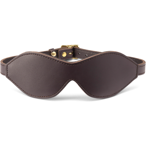 Coco de Mer Leather Blindfold Brown