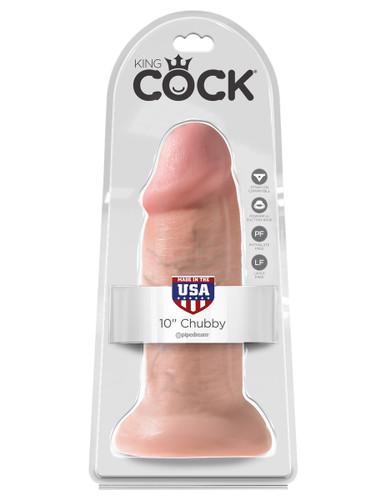 "King Cock 10"" Chubby - Flesh"