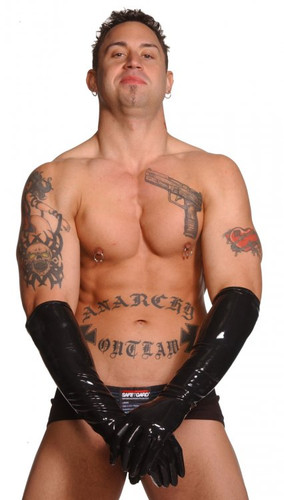 Mens Large Elbow - Length Gloves