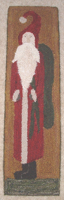 Punched hooked by Angela Jones.  100% wool rug yarn-hand dyed.