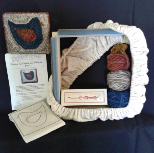 Breezy Ridge Rugs beginner punch needle rug hooking kit.  Everything you need to get started
