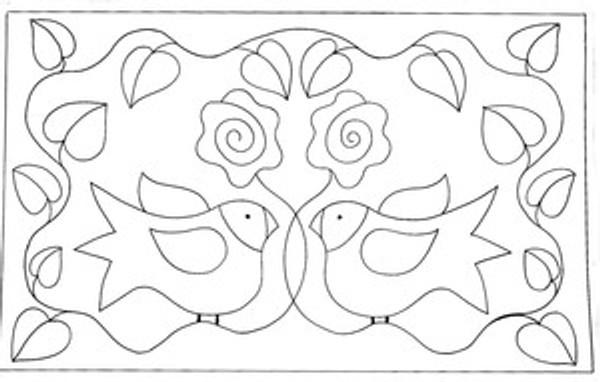 Lovebirds (pillow size)