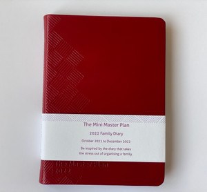 Mini 2022 Master Plan Diary  - Red Leather