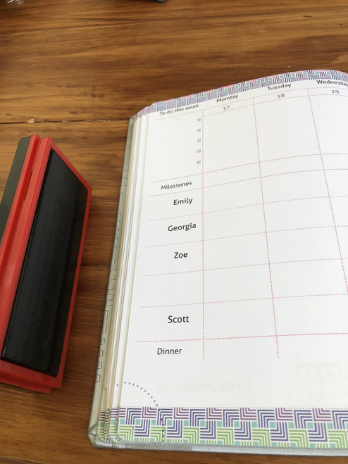 Stamp - personalises your Master Plan Diary