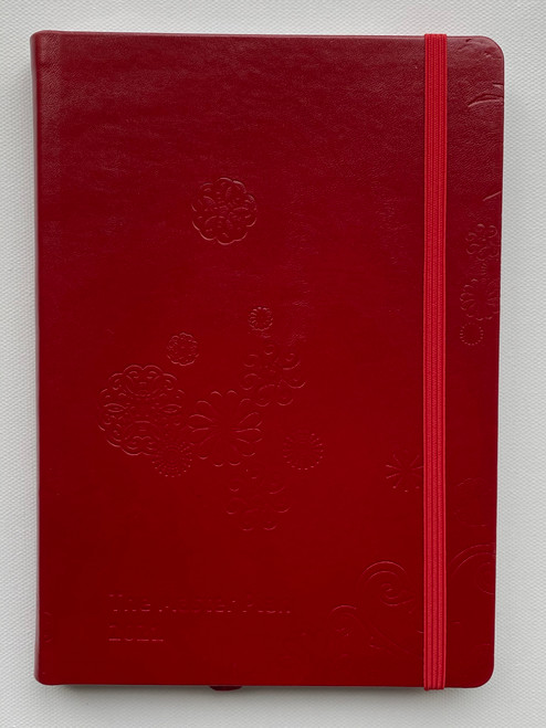 Jan - Dec Master Plan Diary  - Red Light District Red Leather