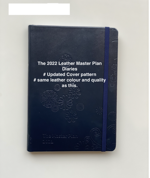 2022 Master Plan Diary  - Navy Leather