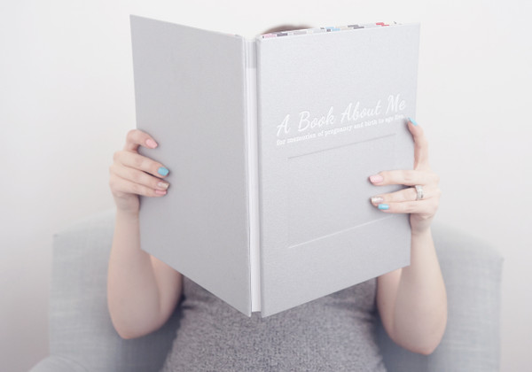 A Book About Me Silver Cover