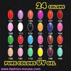 Pure Color Soak Off UV Gels (Set of 24 colors)