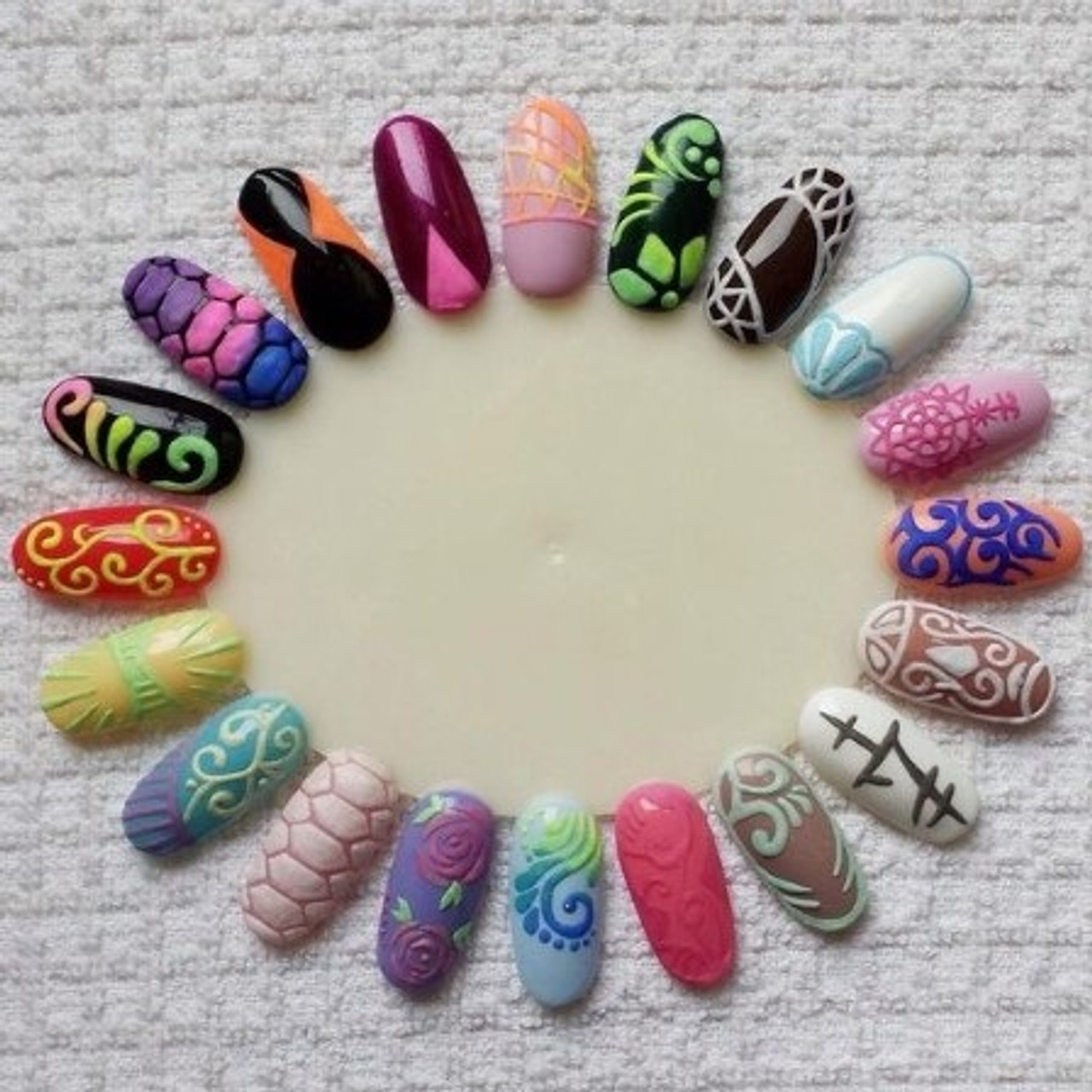 Nail Art Display Tips Practice Wheel Board Fashion Mouse