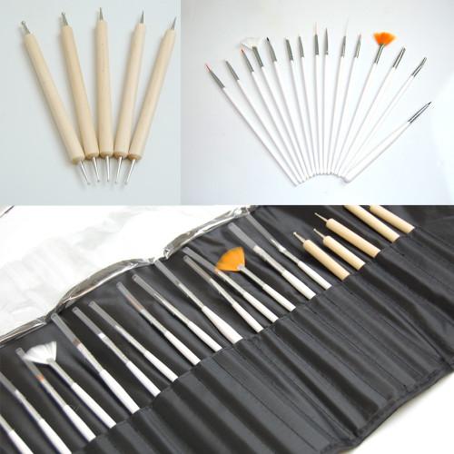20 pcs Nail Paint Brush Set Tools