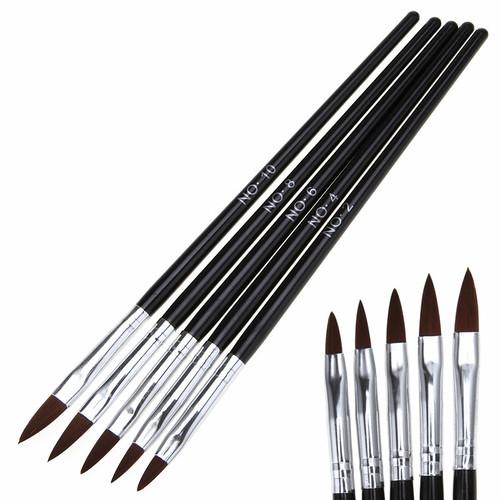 Acrylic Nail Brushes - Set 5 pcs