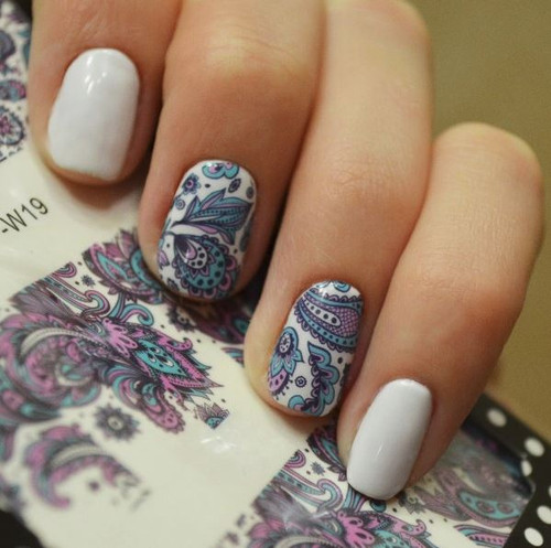 Blooming Flower Nail Decal Stickers