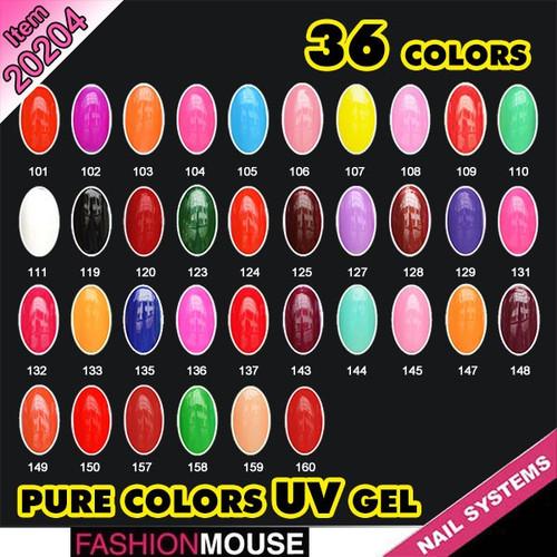 Pure Color Soak Off UV Gels 5 ml
