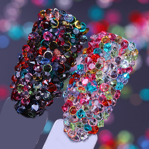 1000 pcs Candy Color Transparent Rhinestones