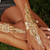 Flash Metallic gold/silver tattoo stickers - Model 001