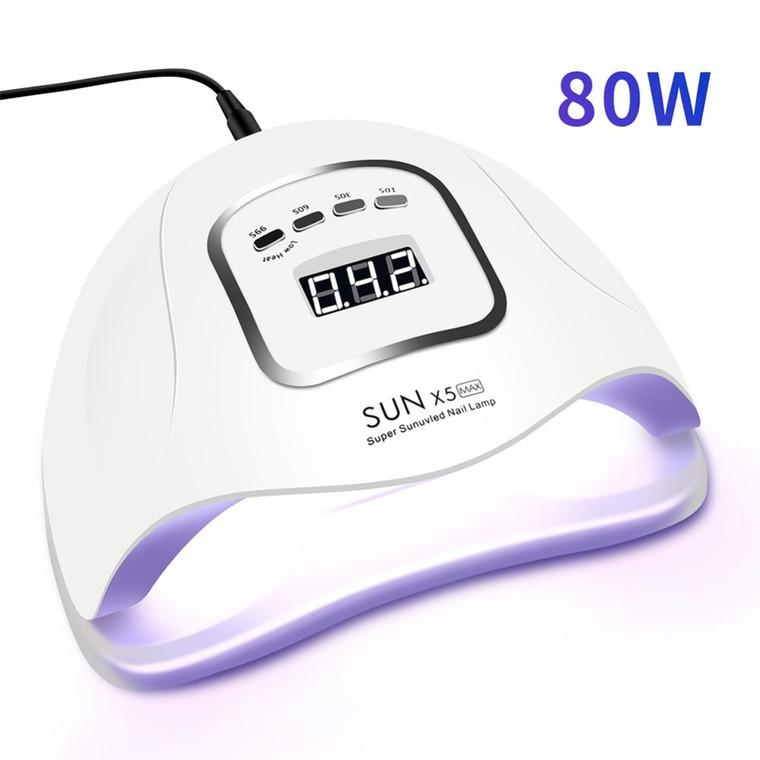80W LED Nail Lamp with Motion sensing LCD Display