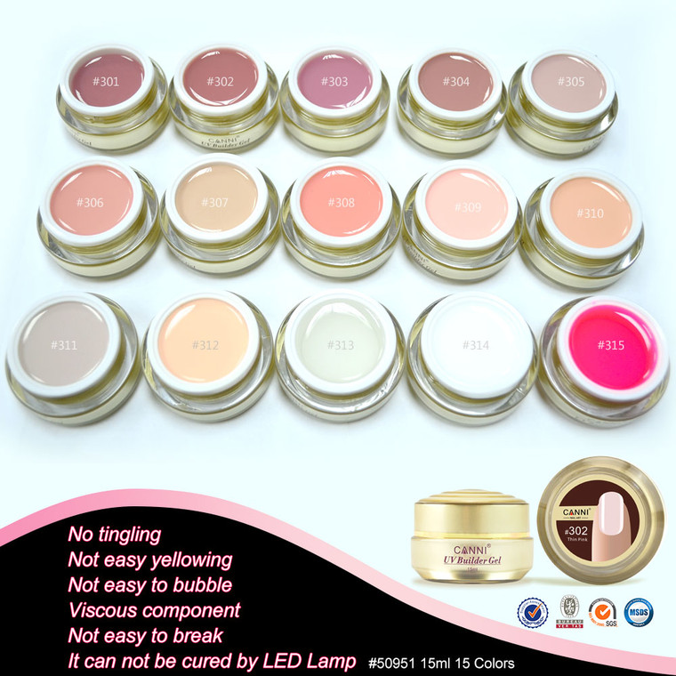 Camouflage Nail Extension Builder Gel 15 ml - Nude Pink