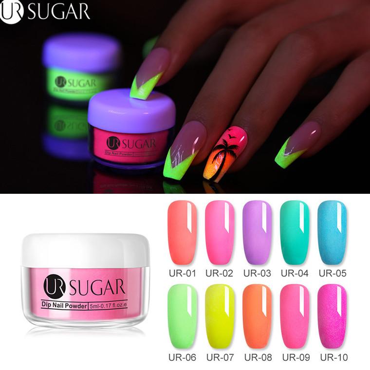 UR SUGAR Fluorescent Neon Dipping Nail Powder 5 ml