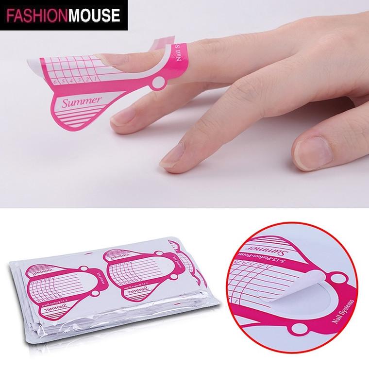 100pcs self-adhesive nail form stickers