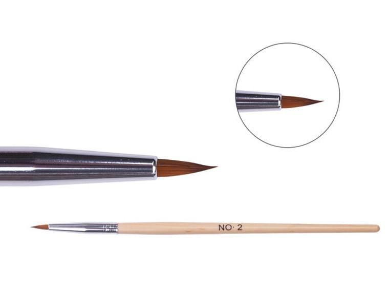 Wooden acrylic brush – Size No. 2