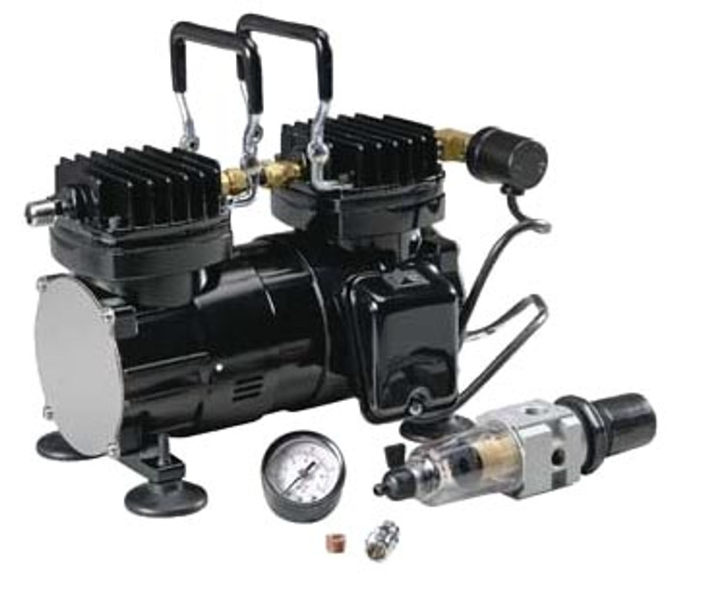 Paasche DA400R Airbrush Tanning Compressor with Regulator 1/6HP