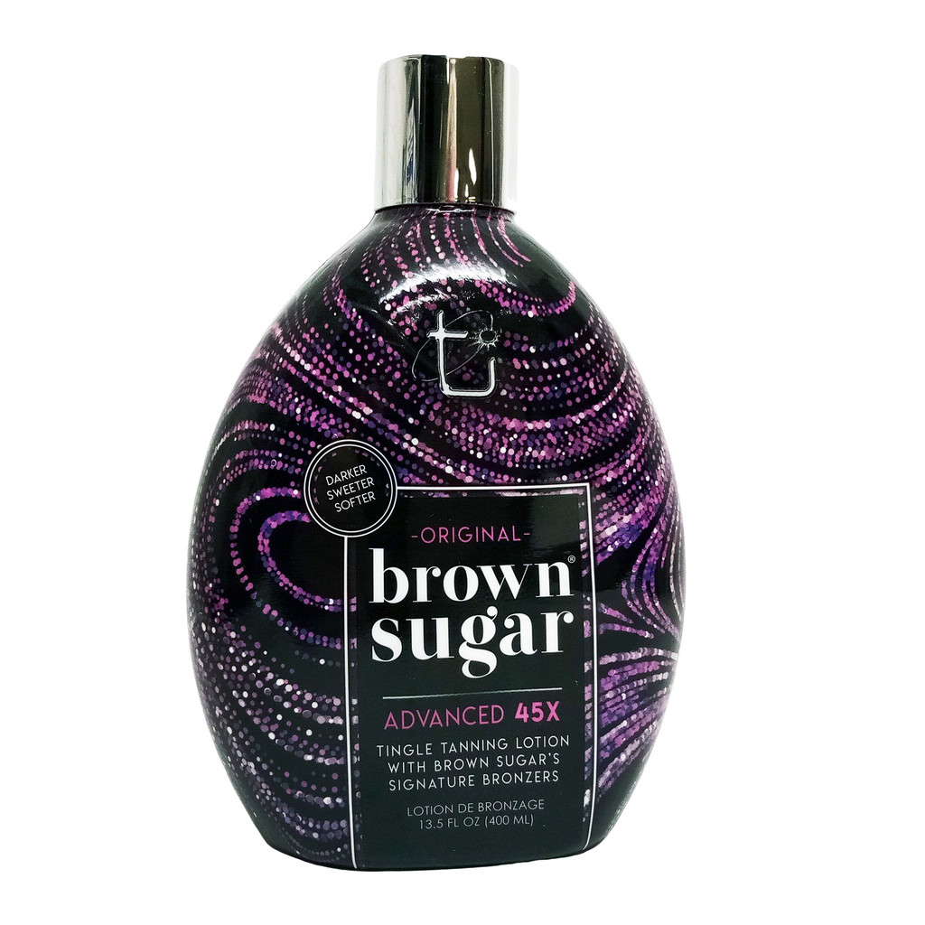 Brown Sugar ORIGINAL DARK BROWN SUGAR - 45 Bronzer with Warming Tingle - 13.5 oz.