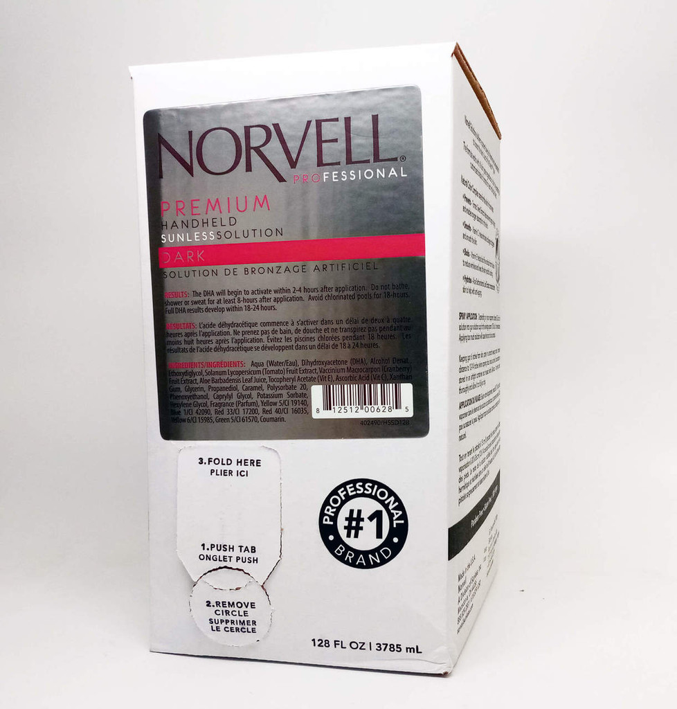 Norvell Premium Sunless Spray Solution - DARK 10.5% DHA - 1 Gallon