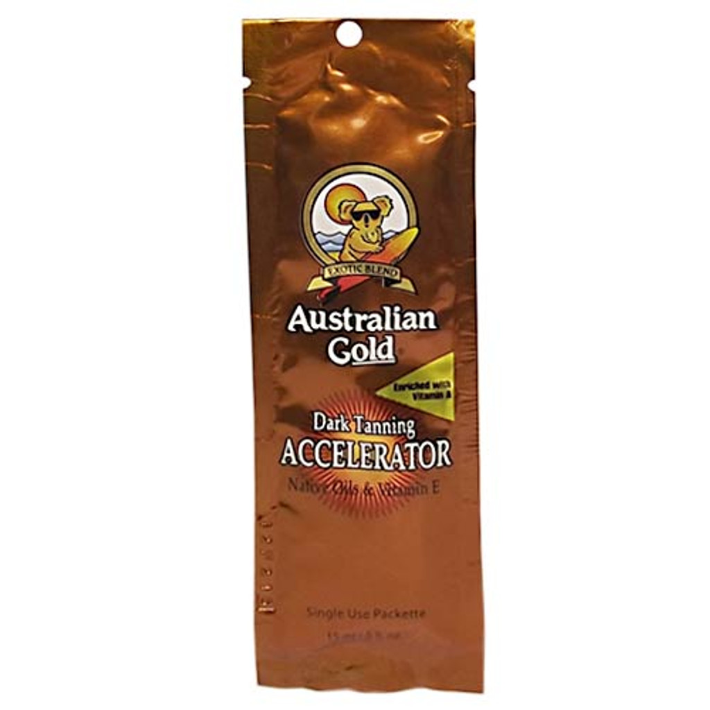 Australian Gold Dark Tanning ACCELERATOR Lotion - .5 oz. Packet