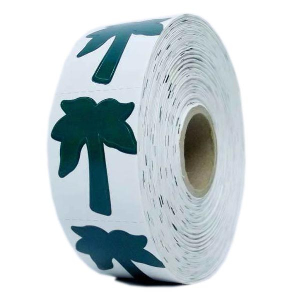 PALM TREE Body Stickers - 1000 ct.