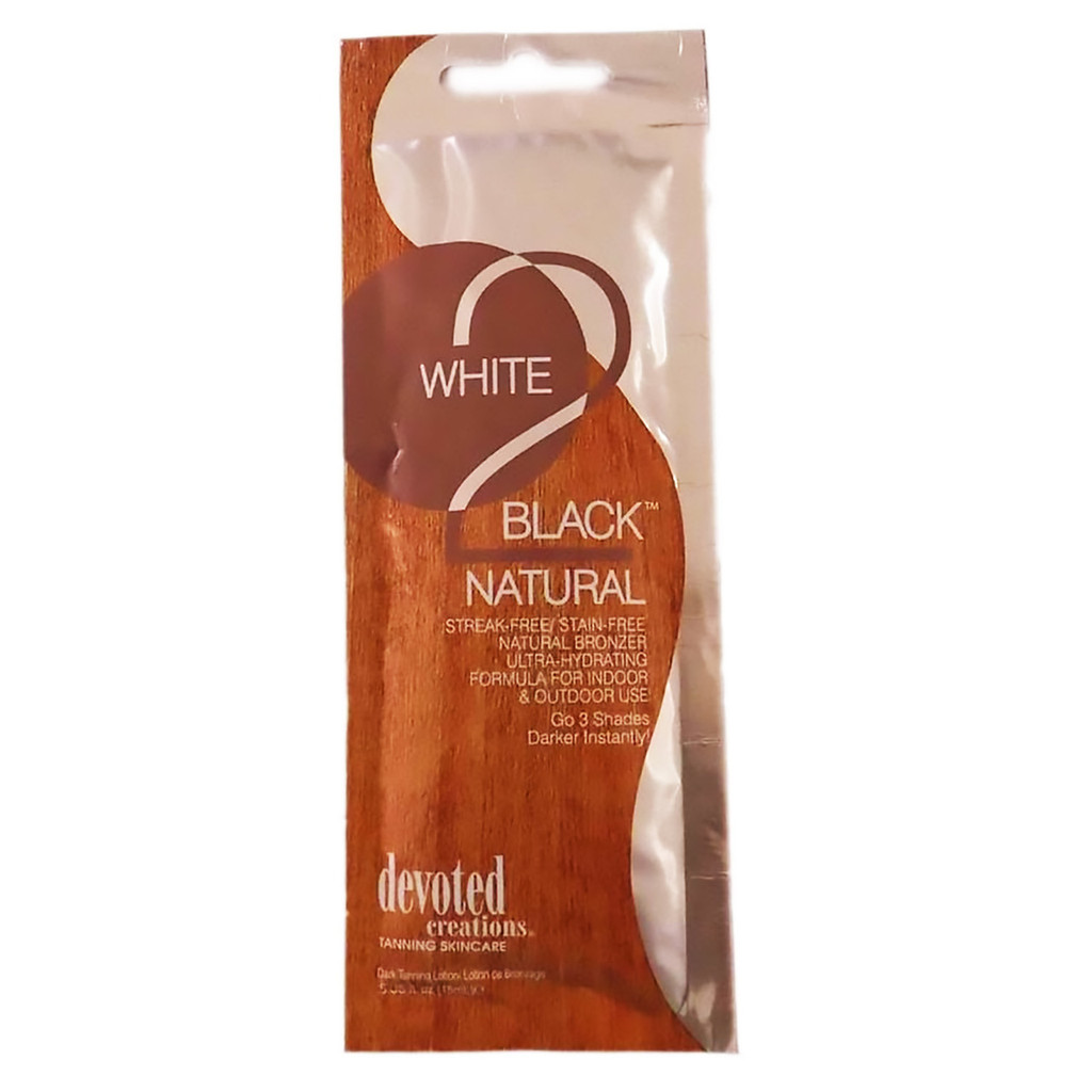 Devoted Creations WHITE 2 BLACK NATURAL Ultra-Hydrating Natural Bronzer - .5 oz. Packet