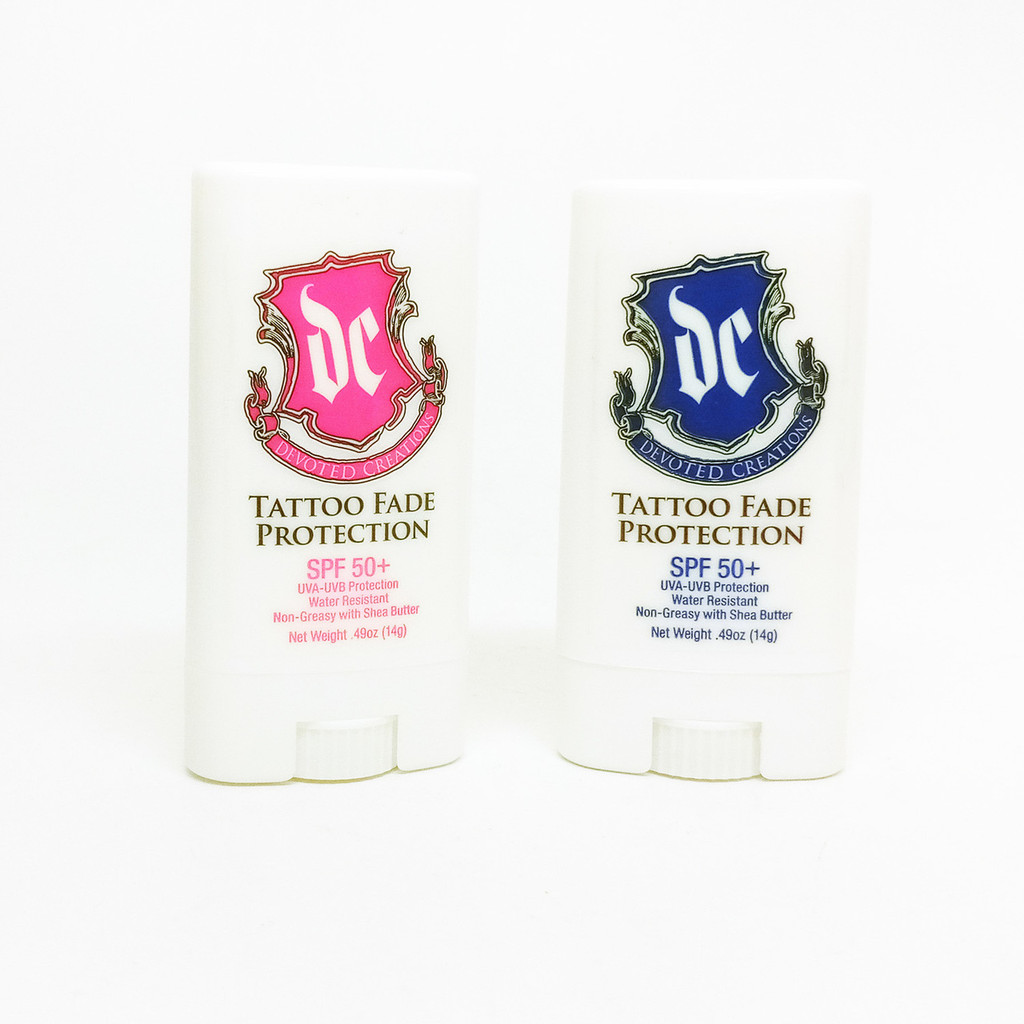 Devoted Creations TATTOO FADE PROTECTION SPF 50 - .49 oz. (TATTOO STICK PINK)